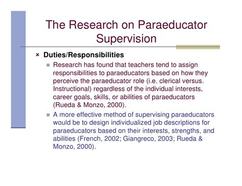 the paraeducator effectiveness study supervision models in inclusi