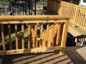 Installing Handrails On Deck Stairs Building Wood Deck Railing