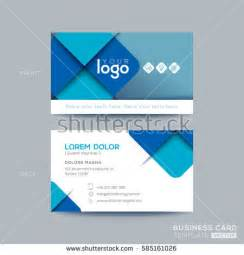 modern business card design template dark stock vector