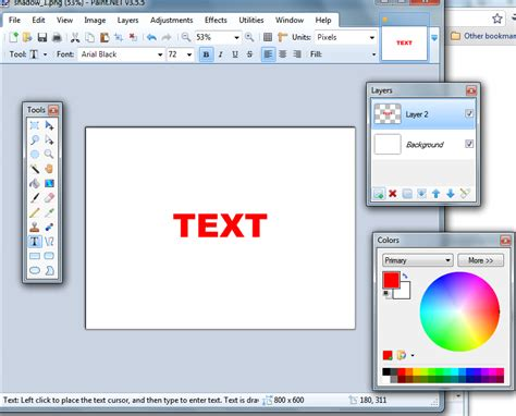 how to use paint net how to create a shadow in paint net