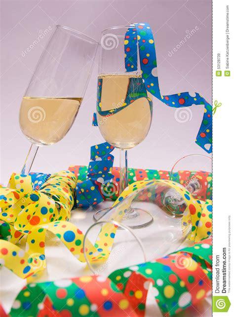 new years streamers new years stock photo image 53128739