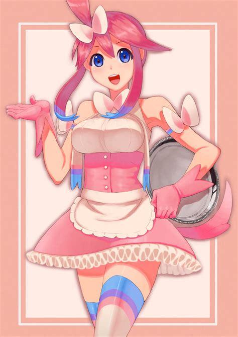 skyla  sylveon themed meido outfit pokemon
