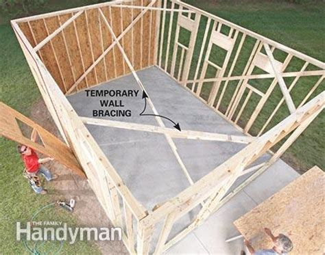 framing a garage the family handyman