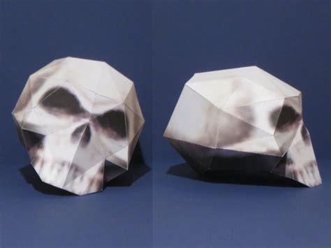 Origami Skull 3d - league 2bof 2blegends 2bskull 2bpapercraft jpg