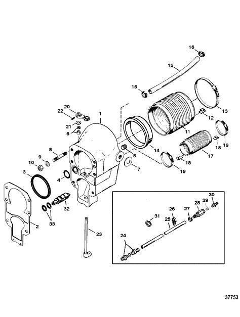 mercruiser alpha one outdrive parts diagram bell housing for mercruiser alpha one ii sterndrive