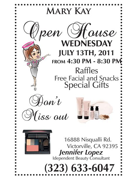 mary kay open house flyer template google search