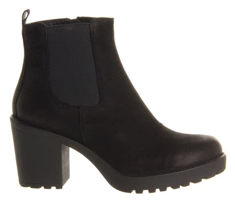 vagabond grace heeled chelsea boot in black lyst