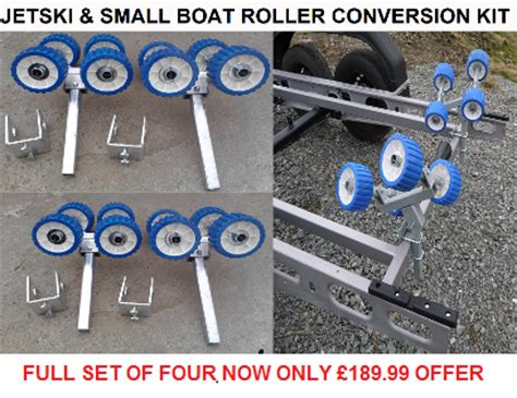 boat trailer wobble roller kit boat trailer jetski wobble rollers bunk conversion kit rollers