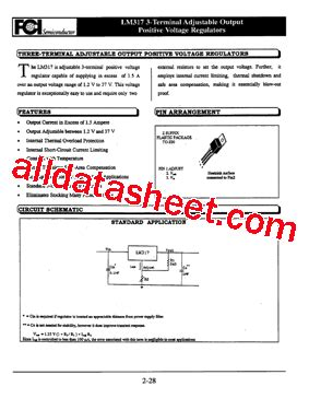 datasheet transistor lm317 lm317 datasheet pdf 3 terminal adjustable regulator