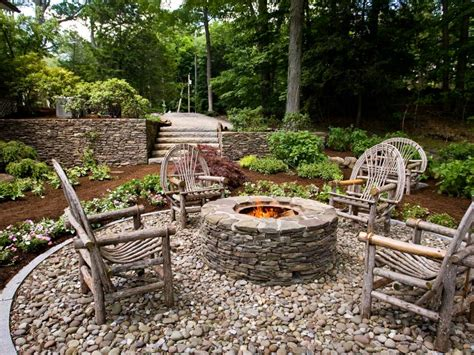 rustic landscaping ideas for a backyard rustic style fire pits hgtv