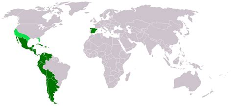 map of speaking countries around the world file map hispanic countries png