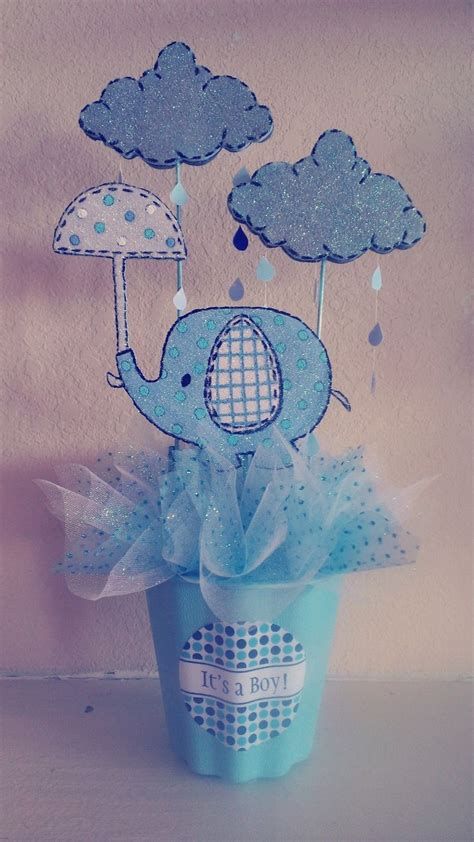 Elephant Quot Umbrellaphant Quot Baby Shower Centerpiece Baby Centerpiece For Baby Shower