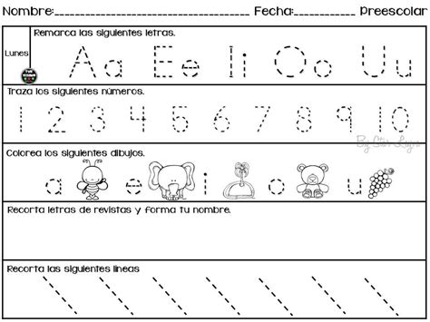 imagenes educativas preescolar semanario de actividades para preescolar actividades de