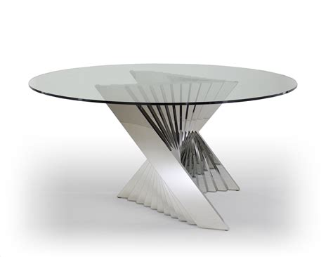 Glass Top Dining Table With Metal Base Ace Dining Table Glass Top And Metal Base Dining Table Unique And Ultra Modern