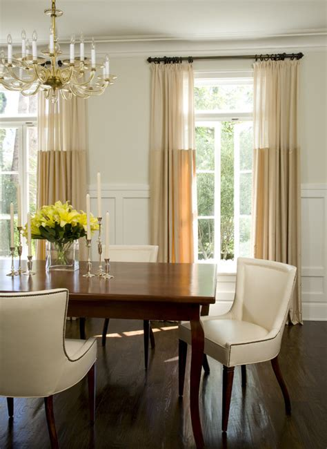 Dining Room Curtain Ideas Photos Color Block Drapes Meadow Lake Road
