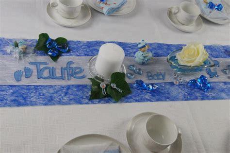dekoration taufe garten tischdeko geburt taufe blau tischdeko taufe