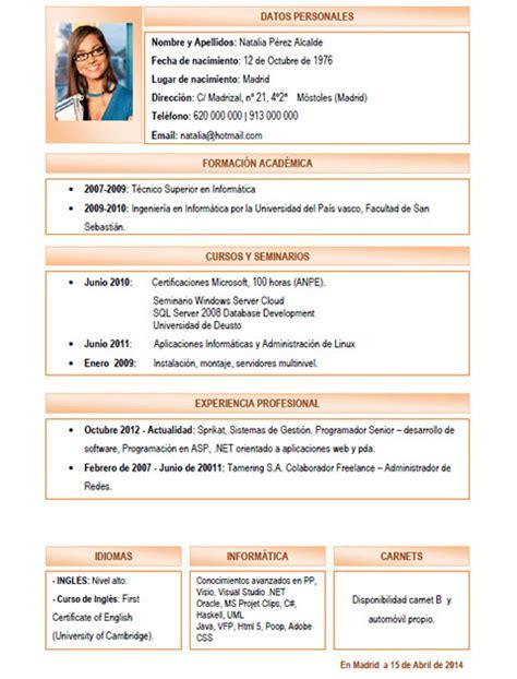 Modelo Curriculum Frances Plantillas Y Modelos De Curriculum En Franc 233 S Trabajar En Francia Cvexpres Page 2