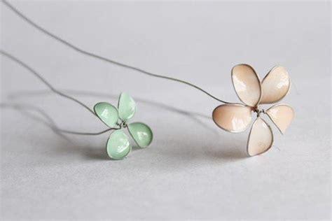 fiori con lo smalto fai da te fiori fil di ferro