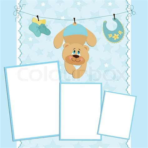 blue card register template blank template for greetings card or photo frame in blue