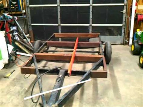 boat made into bed how to turn a boat trailer into a flatbed 5 of 14 youtube