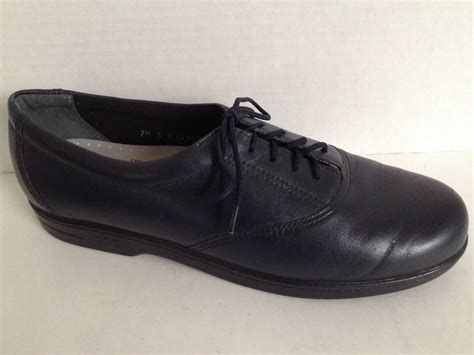 comfort usa sas shoes womens size 7 5 narrow lace up made in usa blue
