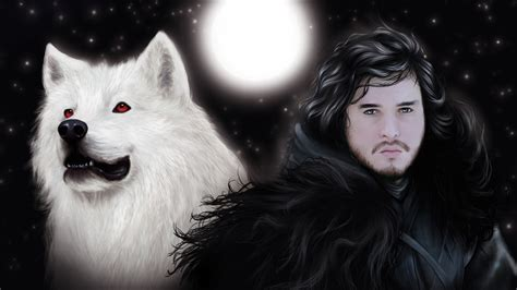 wallpaper ghost game of thrones jon and ghost game of thrones wallpaper 38113121 fanpop
