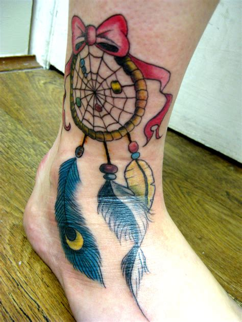dream catcher tattoo on feet dreamcatcher tattoos designs ideas and meaning tattoos