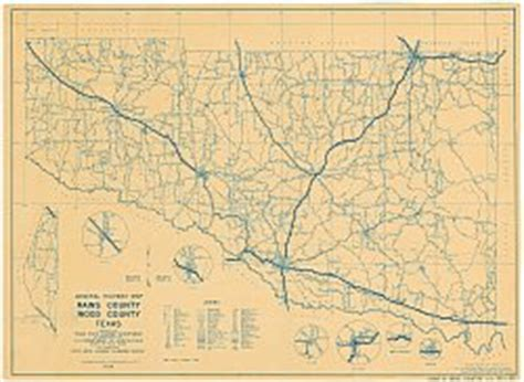 texas highway department maps rains county texas historical map 1936