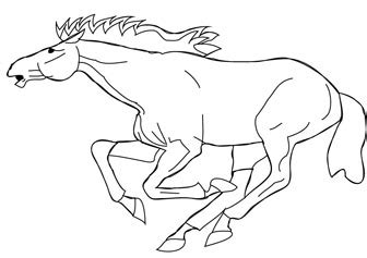 coloring pictures of horses running free running coloring page