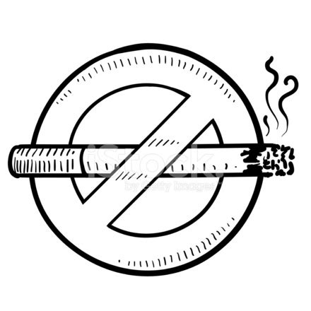 no smoking sign drawing 没有吸烟标志矢量速写 stock vector freeimages com