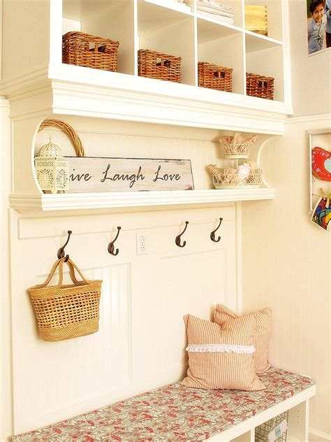 mudroom shelves shabby chic style guide interior design styles and color