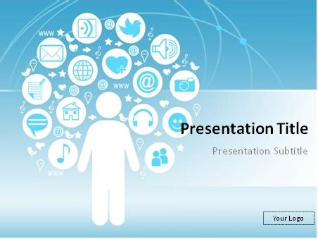 Media Powerpoint Templates social networking powerpoint template bountr info