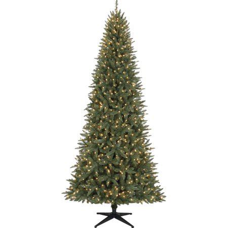 walmart skinny christmas tree time pre lit 9 williams tree green clear lights walmart