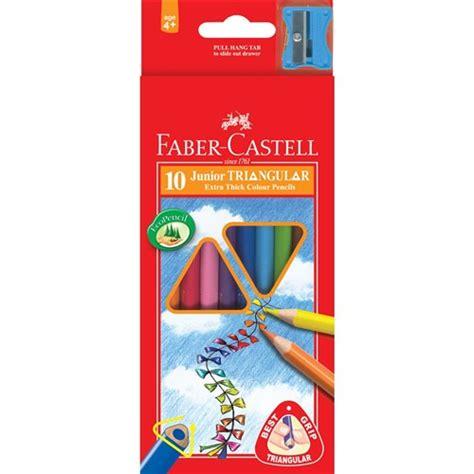 Finger Print Book Faber Castell zfa16 116538 10 faber castell junior triangular colour pencils kookaburra educational