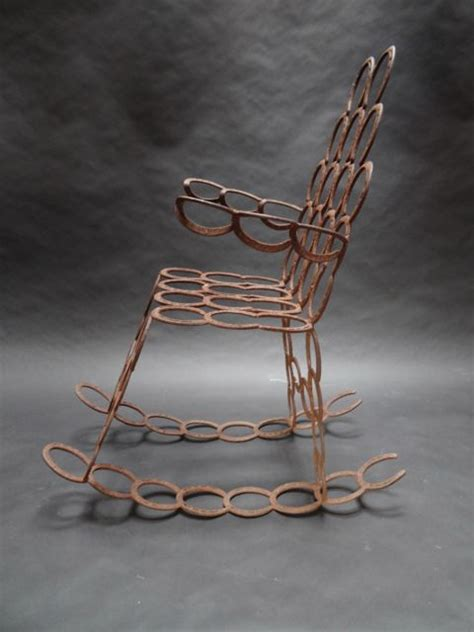 horseshoe rocking chair sold f882 early california antiques