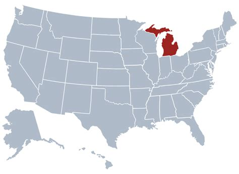 usa map michigan state michigan state information symbols capital