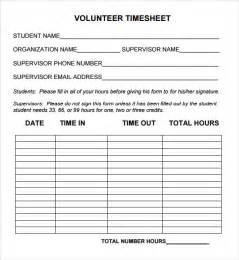 volunteer report template volunteer timesheet template 9 free doccuments