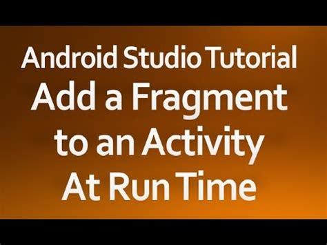 android studio listfragment tutorial 127 android fragmenttransaction part 2 doovi