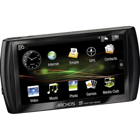 best electronic gadgets new electronic gadgets archos 5 500 gb internet media