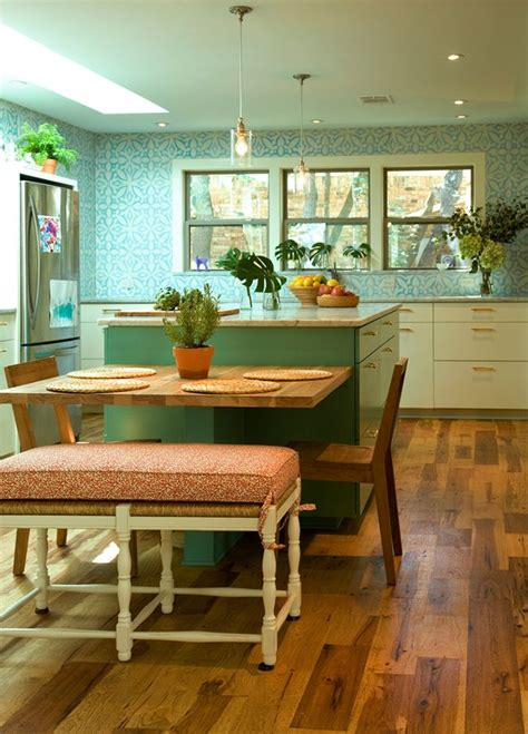 eclectic kitchen kitchen island table eclectic kitchen
