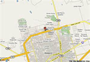 where is midland on the map map of comfort suites midland midland