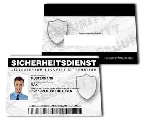 Angebot Sicherheitsdienst Vorlage securityausweis falscher ausweis de