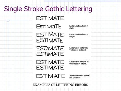 Engineering Lettering Practice