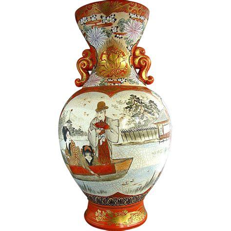 Kutani Vases by Large Kutani Vase Meiji Period Antique 19th Century
