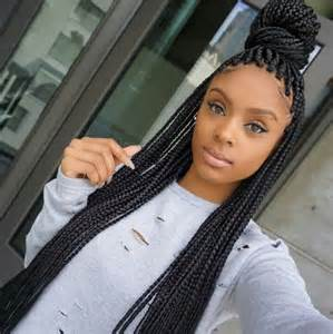 how many bags of hair for box braids 17 best ideas about box braids bun on pinterest box
