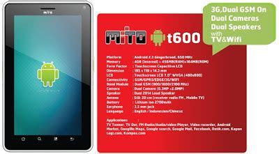 Tablet Dibawah 1 Juta Rupiah mito t600 tablet android harga dibawah rp 1 5 juta