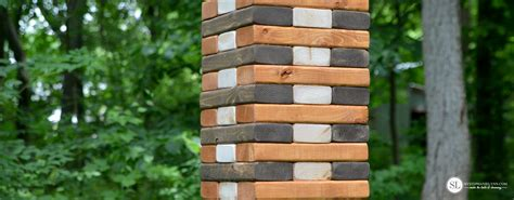 backyard jenga game backyard game night ice cream social diy wooden jenga