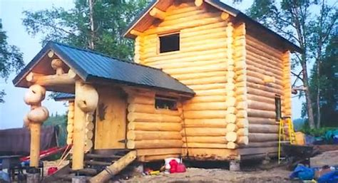 Small Homes To Build Yourself - the inspiring story behind this diy remote log cabin in alaska