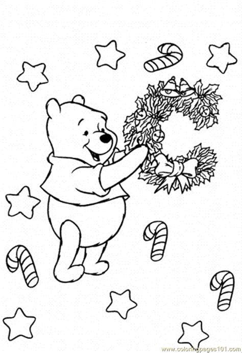 winnie the pooh christmas coloring pages coloring home