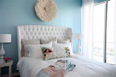 white velvet tufted headboard contemporary bedroom